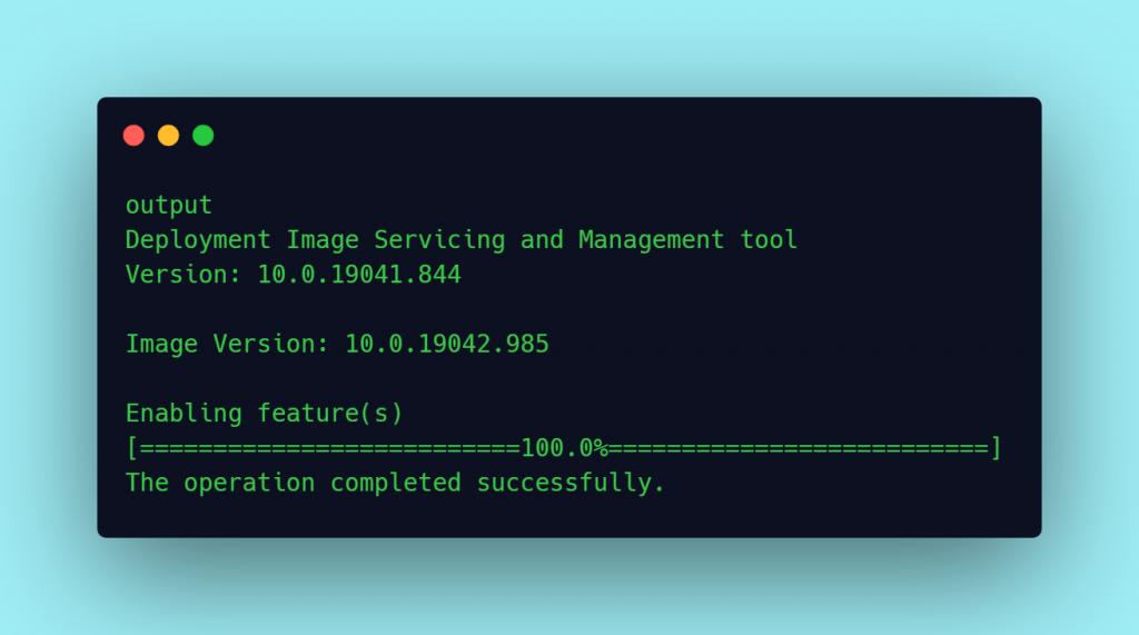 output deployment