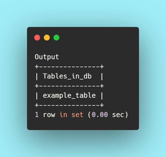 output db